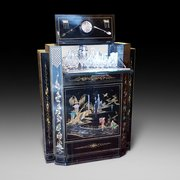 Art Deco Chinoiserie Decorated Cocktail Cabinet
