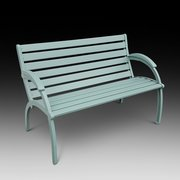 Art Deco Style Garden Bench