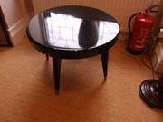 Art Deco black laquer coffee table
