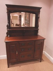 Art Nouveau Mirror Back Sideboard