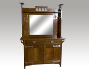 Art Nouveau mirror backed sideboard