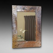 Arts and Crafts Copper Mirror