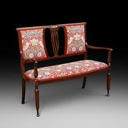 Arts and Crafts Mahogany 2 Seater Settee