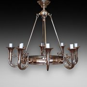 Brass Eight Arm Chandelier