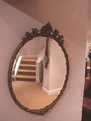Bronzed Softwood Long Effect Mirror