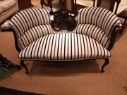 Carved Hardwood 2 Seater Settee