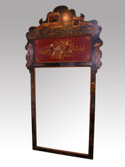 Chinoiserie Lacquered Mirror