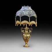 Continental Art Nouveau Brass Lamp
