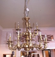 Early 20th century 2 tier chandelier.