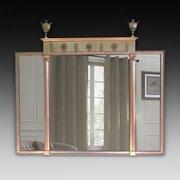 Edwardian Adam Revival overmantel mirror