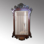Edwardian Chippendale Style Mahogany Framed Mirror