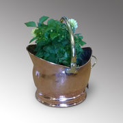 Edwardian Copper and Brass Handled Coal Bucket