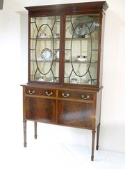 Edwardian Mahogany Bookcase/Display Cabinet
