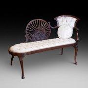 Edwardian Mahogany Chaise Lounge