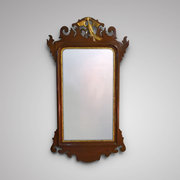 Edwardian Mahogany Chippendale Style Mirror