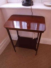 Edwardian Mahogany Inlaid Side Table