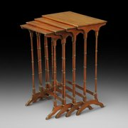 Edwardian Mahogany Nest of 4 Tables