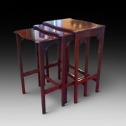 Edwardian Mahogany Nest of Three Tables