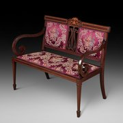 Edwardian Mahogany Two Seater Settee
