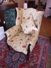 Edwardian Mahogany Wing Arm Chair