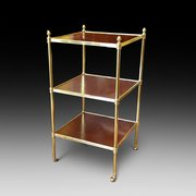 Edwardian Mahogany and Brass Bound Etarge