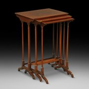 Edwardian Nest of Three Mahogany Tables