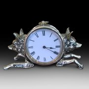 Edwardian brass mantel clock