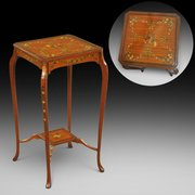Edwardian painted satinwood occasional table