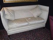 Edwardian sofa Sheraton style  legs.