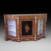 Exhibition Quality Victorian Burr Walnut Credenza
