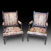 Fine Pair of French Empire Arm Chairs