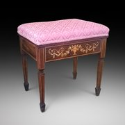 Fine Quality Edwardian Rosewood Piano Stool