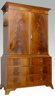 Flame Mahogany Linen Press