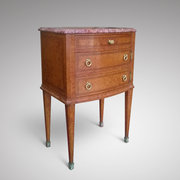 French Amboyna Bedside Cabinet