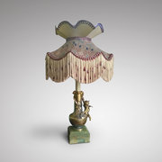 French Gilt Metal Table Lamp