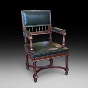 French Mahogany Desk Chair