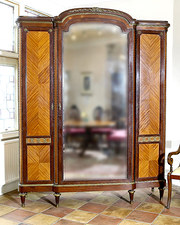 French Mahogany and Kingwood Armoire