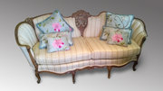 French Walnut Framed Settee