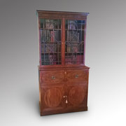 George III Mahogany Sectretaire Bookcase