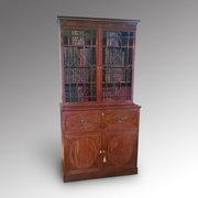 George III Mahogany Sectretaire Bookcase
