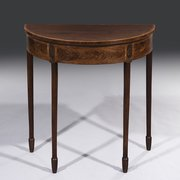 George III Sheraton Period Demi Lune Console Table