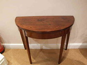 George III demi lune tea table