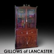 Gillows Rosewood and Mahogany Secretaire Bookcase