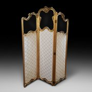 Late19thC giltwood and gesso dressing screen