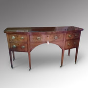 Late 18th C Mahogany Bowfront Sideboard