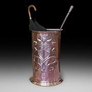 Late 19thC Arts And Crafts Copper Umbrella Stand