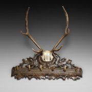 Late 19thC Black Forest Hat and Coat Rack