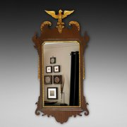 Late 19thC Chippendale Revival Mahogany Mirror