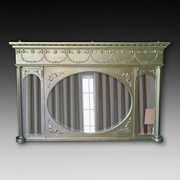 Late 19thC Giltwood Triptych Wall Mirror