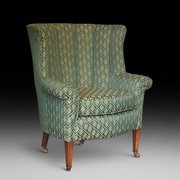 Late 19thC Mahoagny Framed Tub Chair